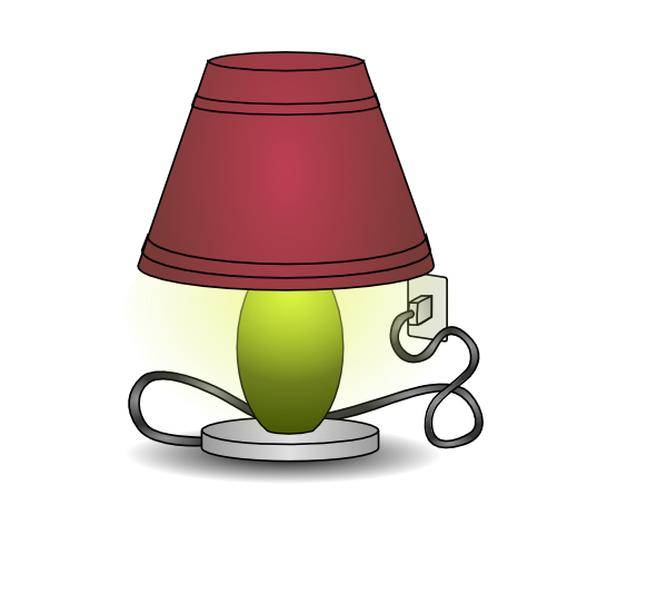 Plugged In Lamp Clip Art At Clker Com Vector Clip Art Online
