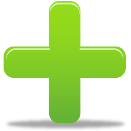 Plus Sign Green Icon, .