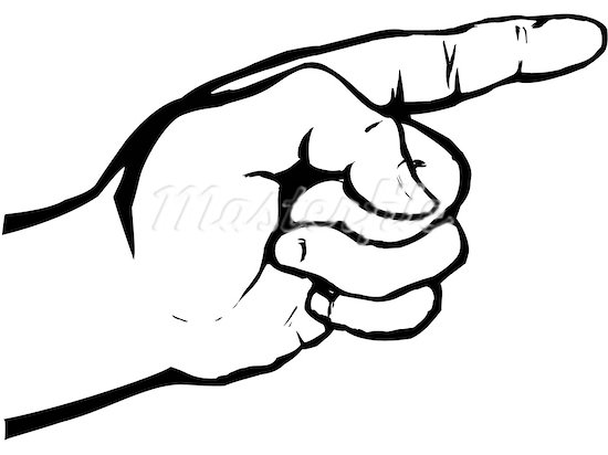 pointing hand clipart - Pointing Hand Clipart
