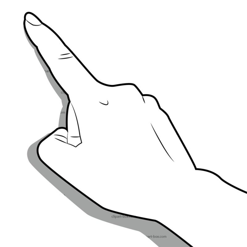 Pointing finger finger touch clipart man pointing clip