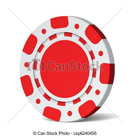 ... Poker Chip - Vector Illustration Of -... Poker chip - Vector illustration of a blank poker chip-13