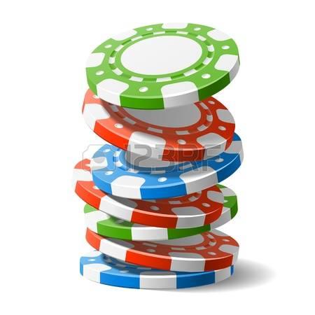 Poker Chips: Falling Casino Chips Illust-poker chips: Falling casino chips Illustration-7