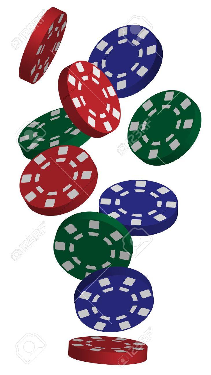 Poker Chips: Illustration Of .-poker chips: Illustration of .-10