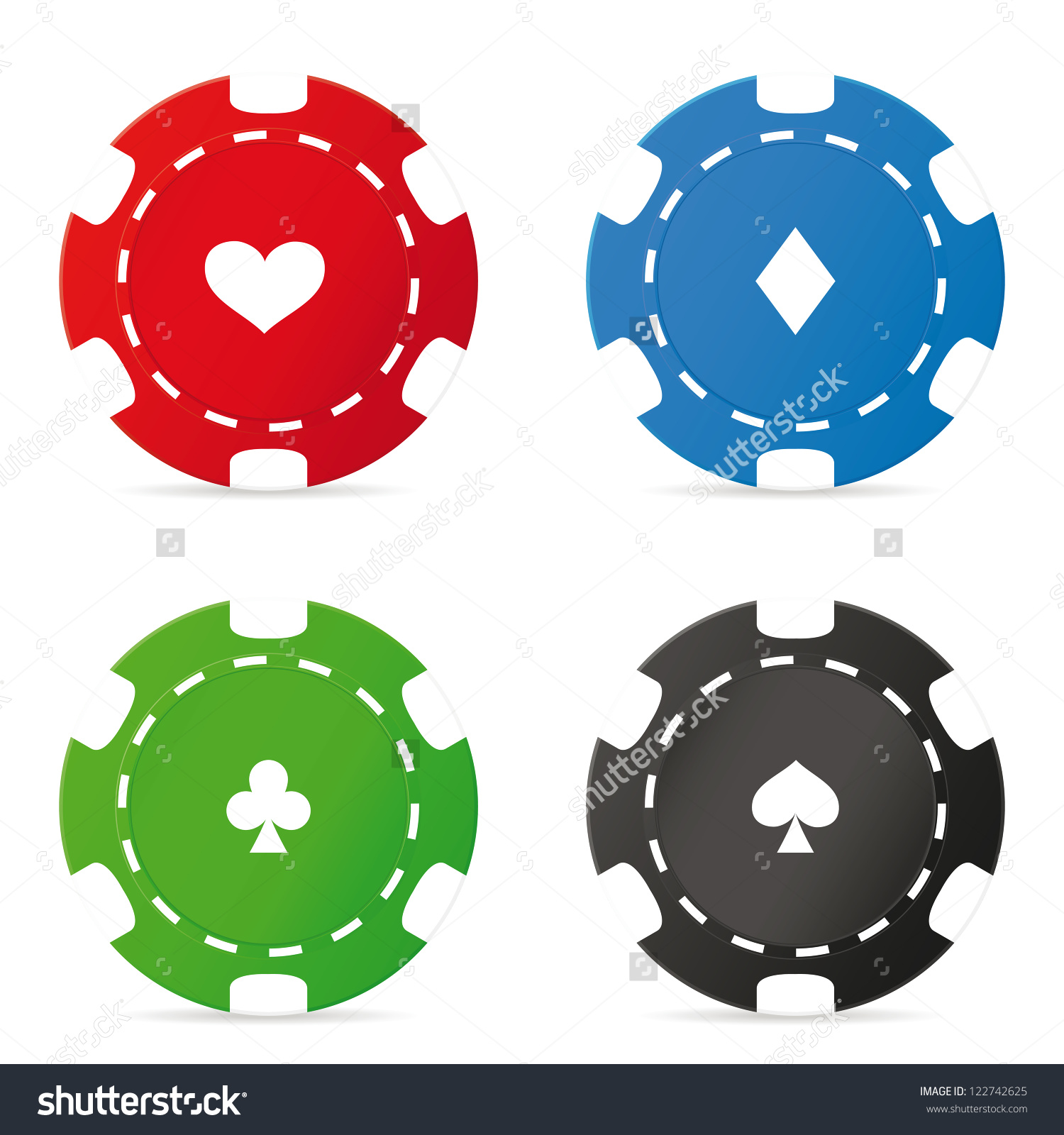 Poker Chips Set. Vector Illustration-Poker chips set. Vector illustration-17