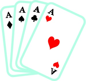 Poker Hand Clipart Image: .