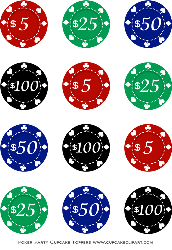 Poker Night Party Free Printable Cupcake-Poker Night Party Free Printable Cupcake Toppers Cupcake Clipart-17