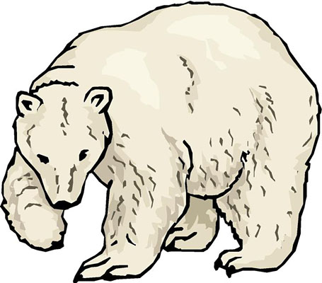 Polar Bear Clipart Black And White-polar bear clipart black and white-2