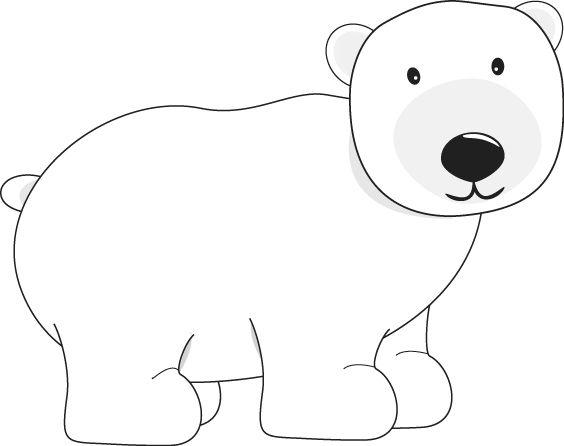 Polar Bear clip art image for teachers, classroom lessons, educators, school, print, scrapbooking and more.