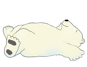 Polar Bear Clip Art Sleeping Polar Bear -polar bear clip art sleeping polar bear ...-7