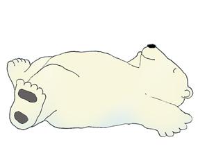polar bear clip art sleeping polar bear ...