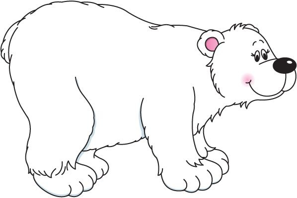 Polar Bear Clipart Black And .-Polar bear clipart black and .-9