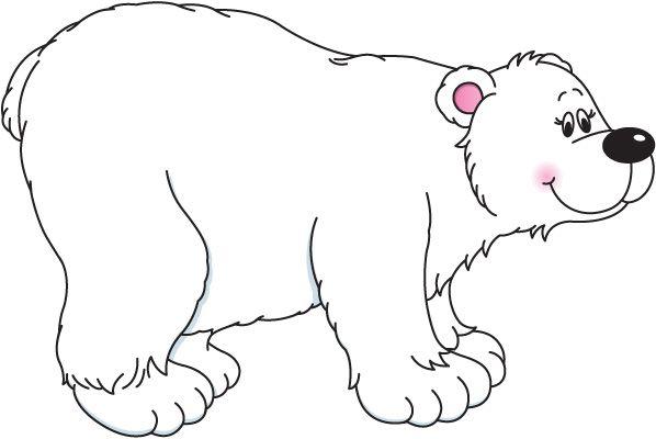 Polar bear clipart black and .