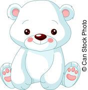 Polar Bear - Fun zoo. Illustration of cute Polar.