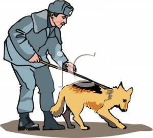 police dog clipart