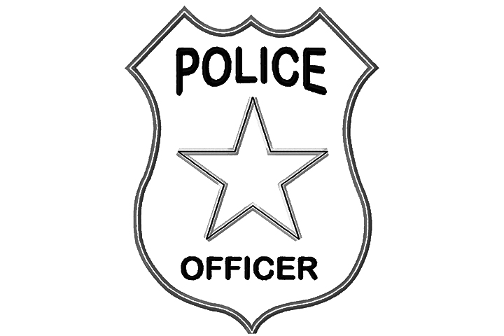 Police badge coloring clipart 2-Police badge coloring clipart 2-18