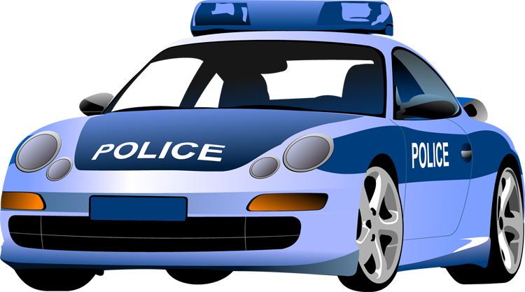 Police car clip art printable .