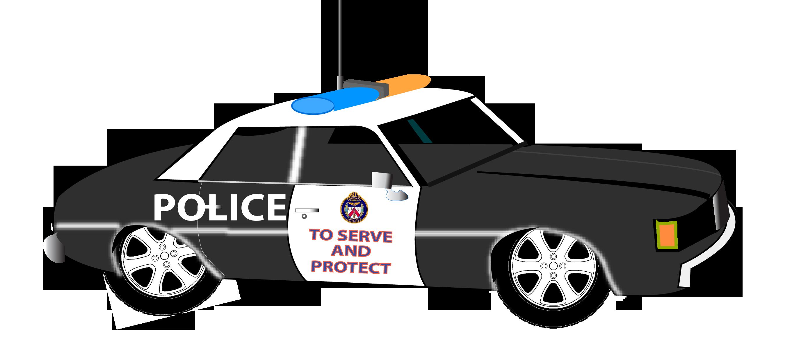 Police car clipart