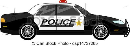 ... Police Car - Illustration Of Police -... police car - illustration of police car side view isolated... ...-17