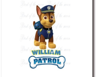 Police Dog Chase Clipart #1