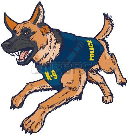 Police dog clipart ...