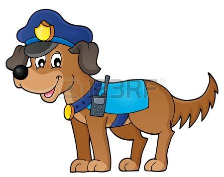 Police Dog: Police Dog Theme Image 1 - E-police dog: Police dog theme image 1 - eps10 vector illustration. Illustration-15