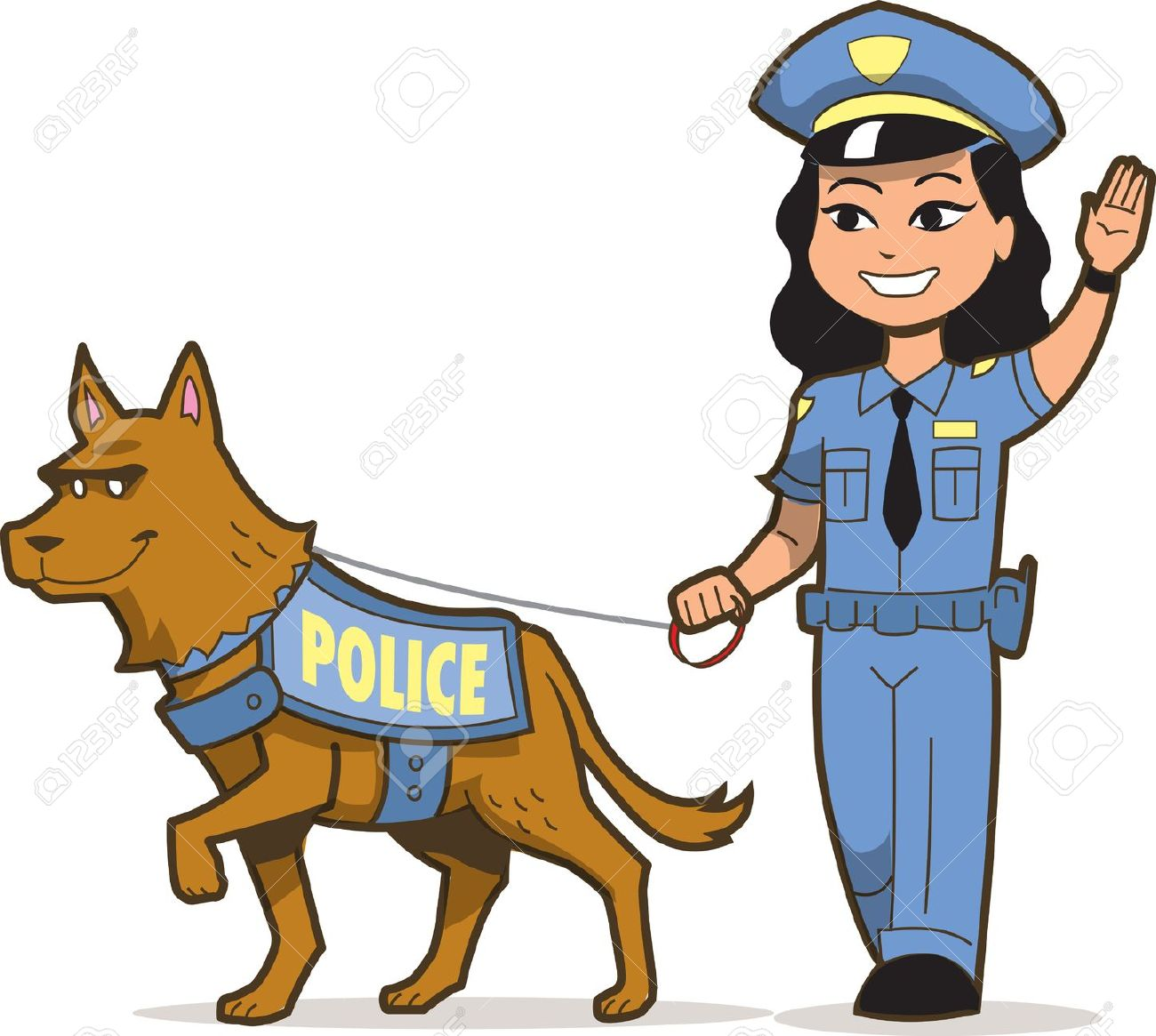 police dogs: K-9 Police Dog .