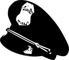 Police Hat clip art