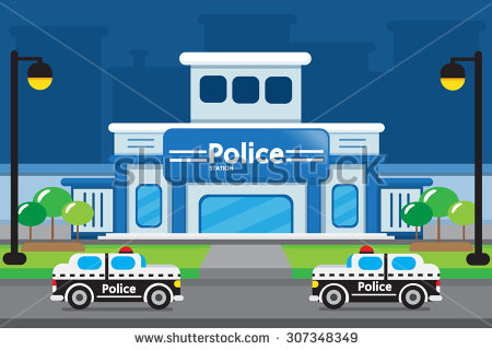 Police Station Clipart .-Police Station Clipart .-16