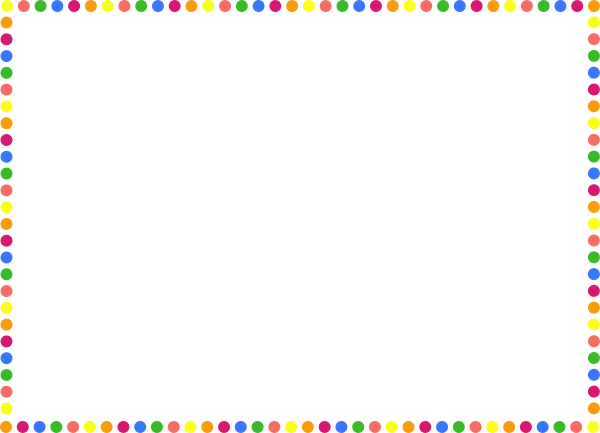Polka Dot Frame Clip Art At Clker Com Vector Clip Art Online