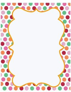Polka Dot Frame Clip Art. Free Frames and Borders-- all .