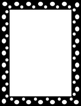 Polka Dot Page Frame Clip Art