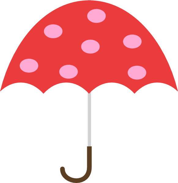 Polka Dot Umbrella Clip Art at Clker clipartall.com - vector clip art online 582 x 599. Download. Umbrella Clip Art ...