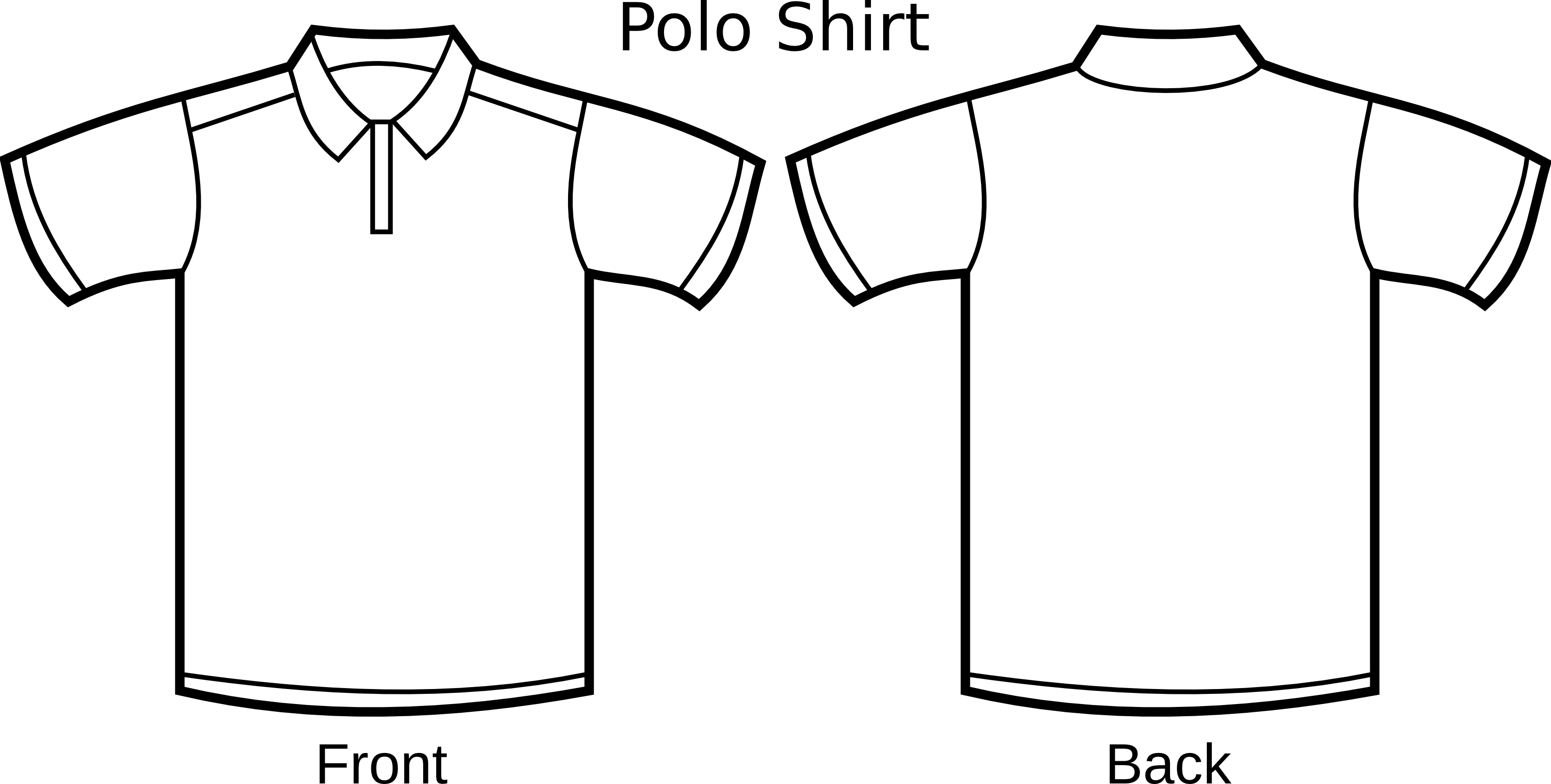 Free Polo Shirt Template Clipart Illustration #000155 .