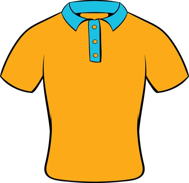 Mens polo shirt icon cartoon vector art illustration