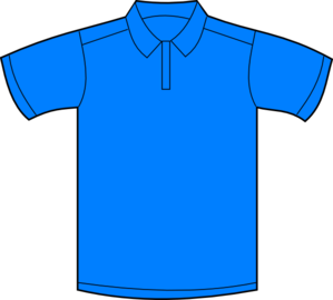 Polo Shirt Blue Front Clip Art