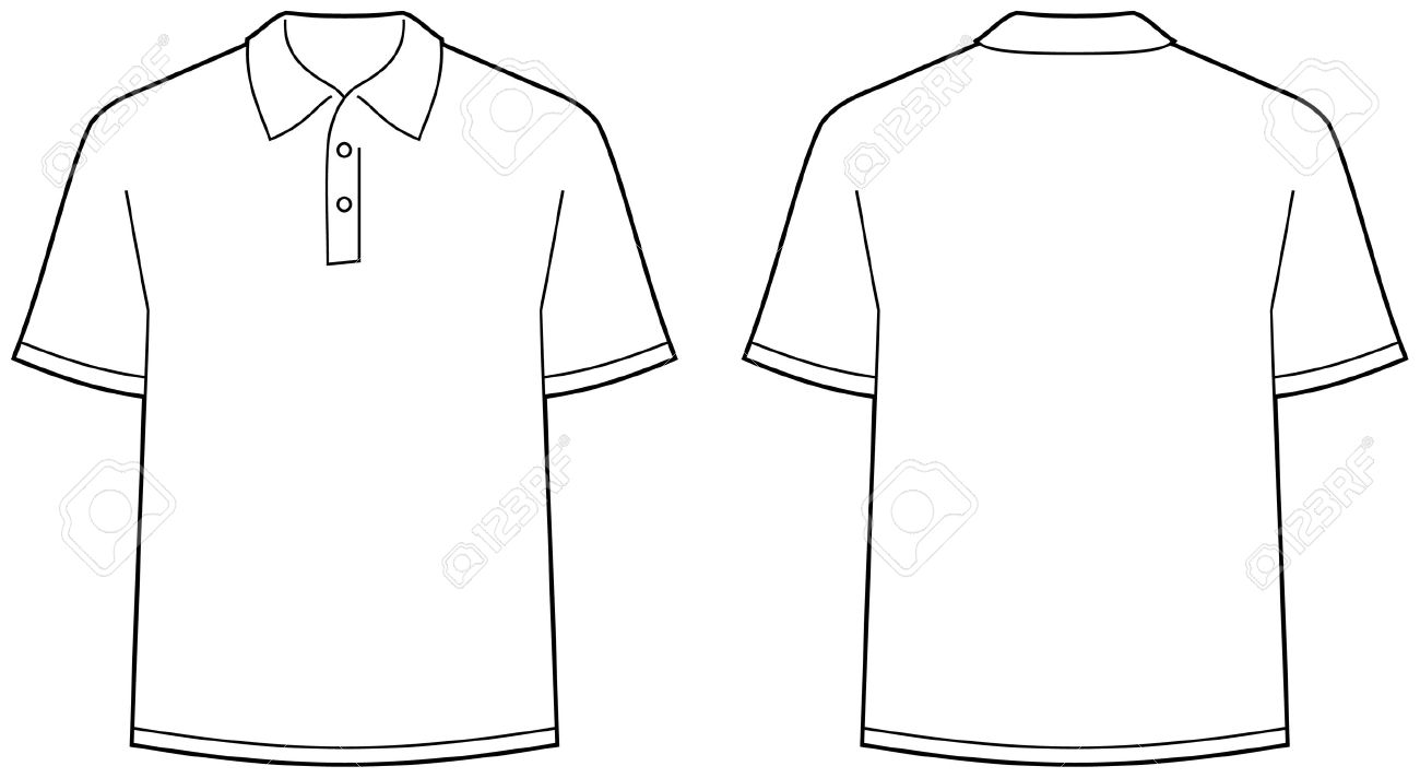 Polo Shirt - Front And Back View Isolate-Polo shirt - front and back view isolated Stock Vector - 4971683-9