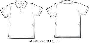 Polo-shirt - White Polo-shirt - Back And-polo-shirt - White polo-shirt - back and front-12