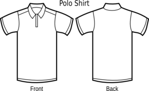 White Polo Shirt Clipart #1