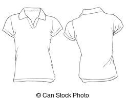 . ClipartLook.com Womenu0027s White Polo Shirt Template - Vector illustration of.