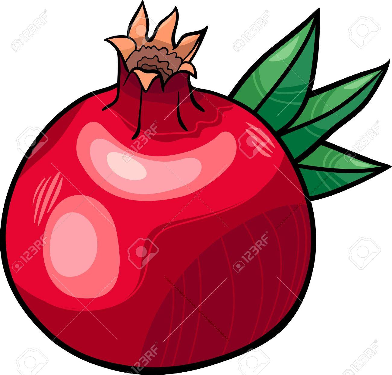 pomegranate clip art: Cartoon .