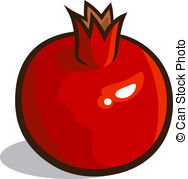 ... Pomegranate - Vector illustration of a pomegranate isolated... Pomegranate Clipart ...