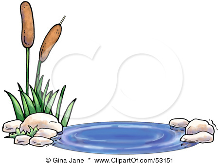 Pond Water Clipart #1