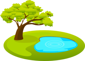 Pond With Tree Clip Art At Clker Com Vector Clip Art Online Royalty