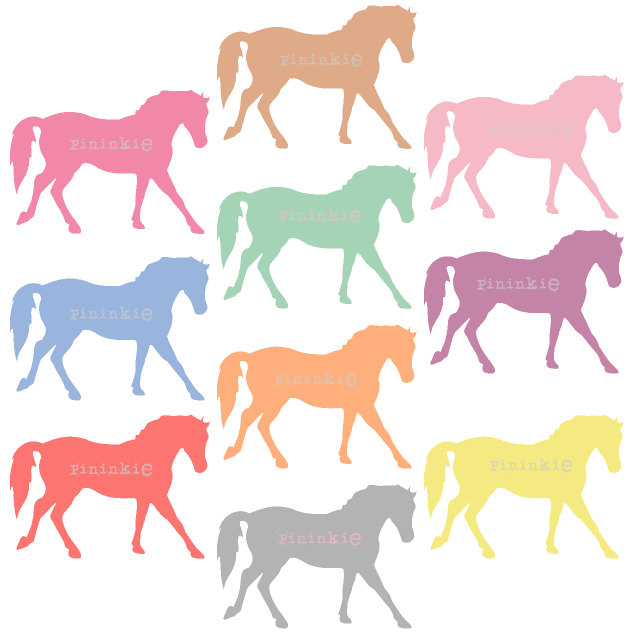Pony Clip Art - Digital Clip Art - Horse Clip Art - Pastel Clipart - scrapbooking - Instant Download - Commercial Use - PNG / JPG