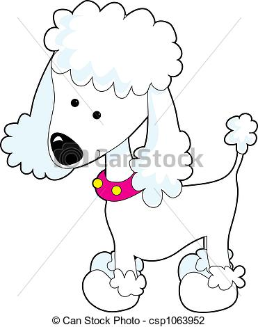 Poodle - A cartoon of a Poodle on a white background Poodle Clip Artby ...