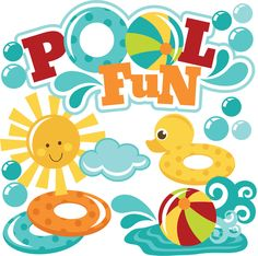 Pool fun clipart - Pool Party Pictures Clip Art