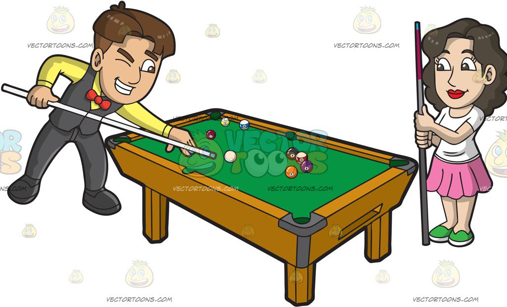 . ClipartLook.com A Man And W - Pool Game Clipart