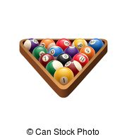 . ClipartLook.com Pool billiards balls in triangle vector game icon - Pool or.
