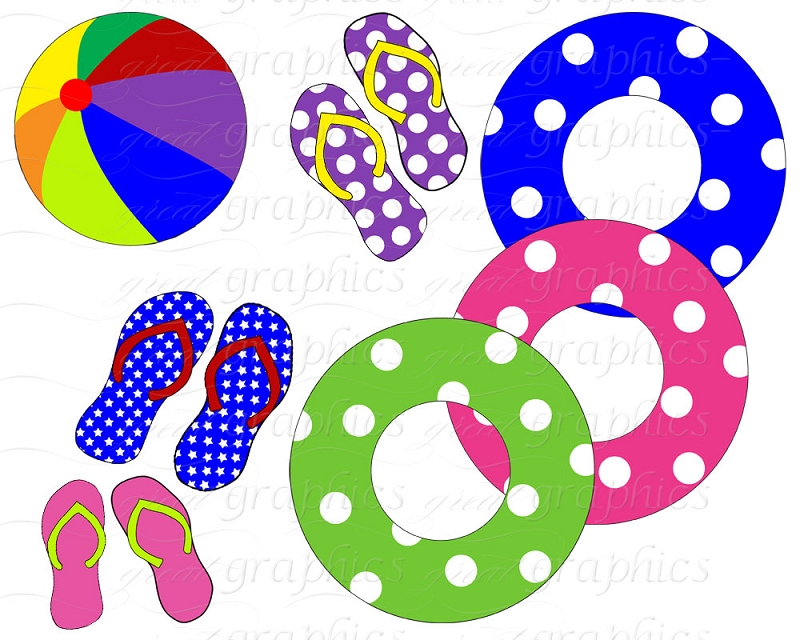Pool Party Clip Art Images. 1
