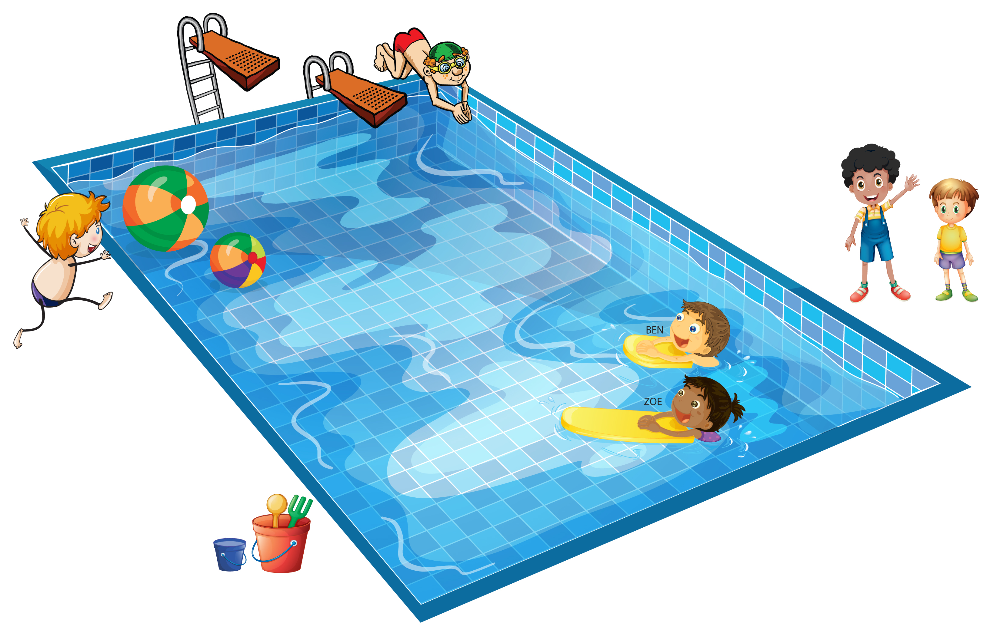 Pool Scene Color Beach Scene Color Party-Pool Scene Color Beach Scene Color Party Scene Color-5